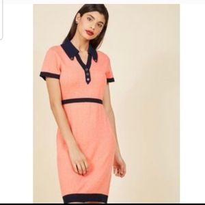 ModCloth orange mini dress
